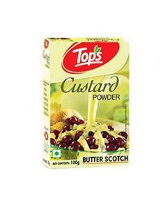 Tops Custard Powder Butter Scotch 100gm