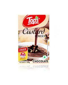 Tops Custard Powder Chocolate 100 gm